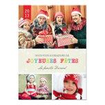 Flocons de Neige Brillants Carte de Noël Carton D'invitation 12,7 Cm X 17,78 Cm