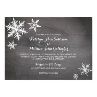 Flocons de neige de Frost d'hiver   épousant Carton D'invitation 12,7 Cm X 17,78 Cm