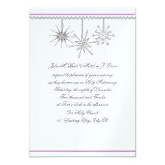 Flocons de neige d'hiver carton d'invitation  12,7 cm x 17,78 cm