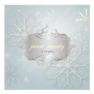 Flocons de neige invitations de mariage d hiver
