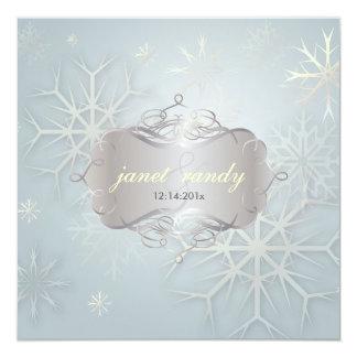 Flocons de neige, invitations de mariage d'hiver