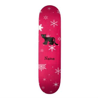 Flocons de neige nommés personnalisés de rose de p plateau de skate