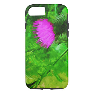 Flodmans Thistle Purple Wildflower Abstract iPhone 7 Case