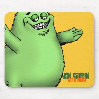 FloGrimace-Green, Jon Griffin, Art & Design Mouse Pad