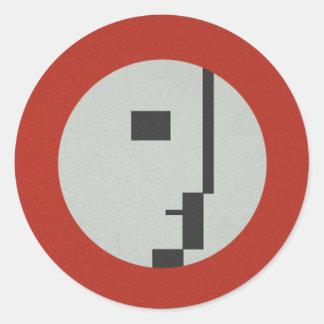 FLomm Heroes: D'EVOCATUR! Classic Round Sticker