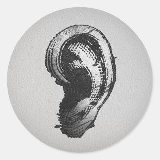FLomm Villains: hEAR! Classic Round Sticker
