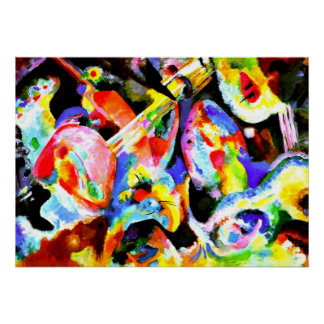 Flood Improvisation, abstract art by Kandinsky Poster