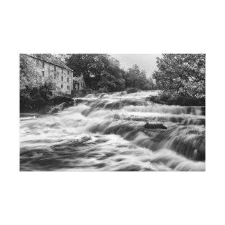 Flood River Canvas Print