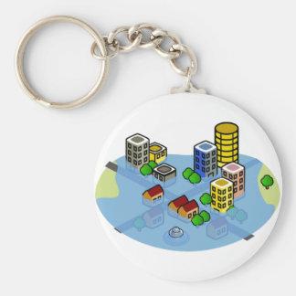 Flooded City Keychain