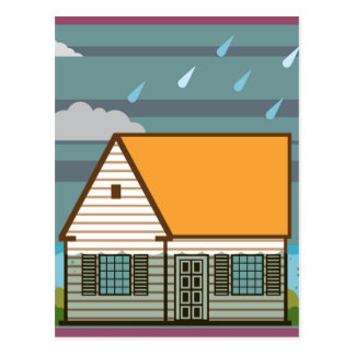 Flooded House Postcard