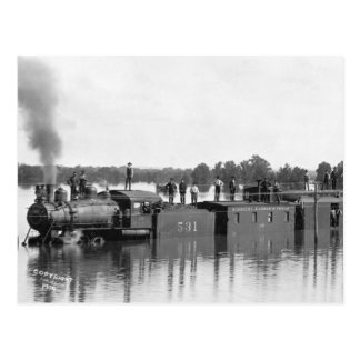 Flooded Train, 1904 Postcard
