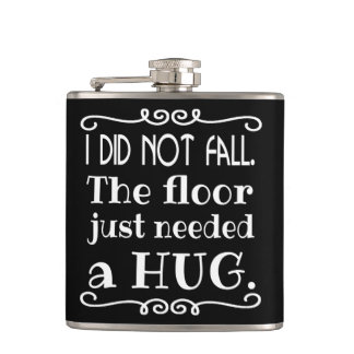 Floor Hug Funny Hip Flask