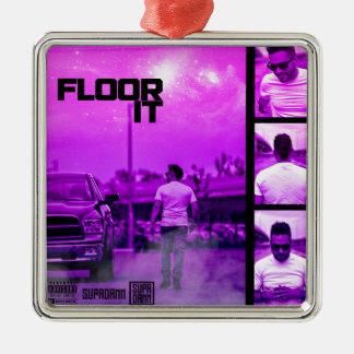 Floor It Cover Metal Ornament