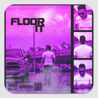 Floor It Cover Square Sticker
