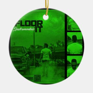 Floor It Instrumentals Cover Ceramic Ornament