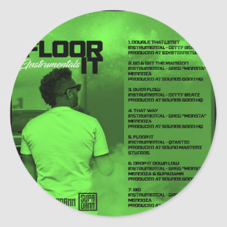 Floor It Instrumentals Reverse Classic Round Sticker
