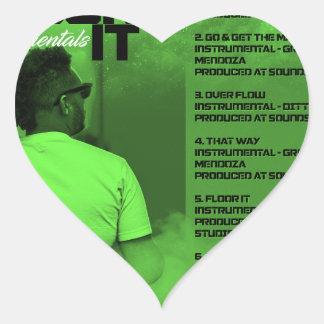 Floor It Instrumentals Reverse Heart Sticker