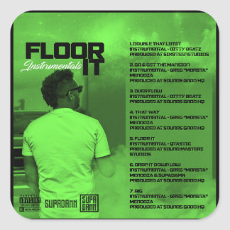 Floor It Instrumentals Reverse Square Sticker