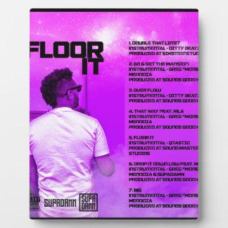 Floor It Reverse Plaque