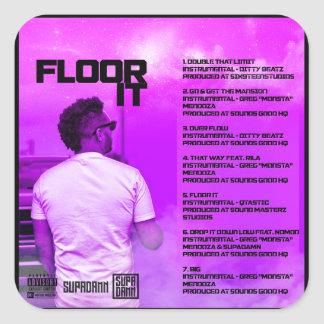 Floor It Reverse Square Sticker