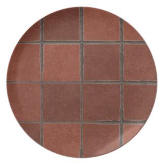 Floor tiles background dinner plates