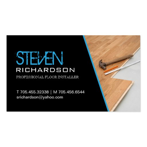 Flooring business card zazzle for Flooring business cards