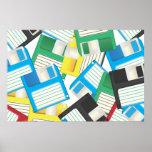 Floppy Discs Print