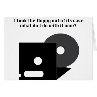 Floppy Disk Funnies Card