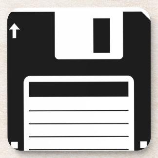 Floppy Disk Retro Illustration Design Coaster