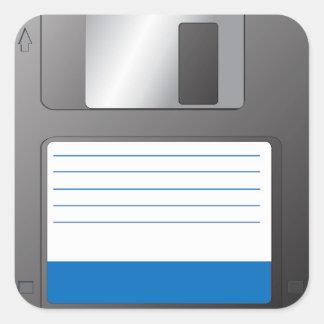 Floppy Disk Square Sticker