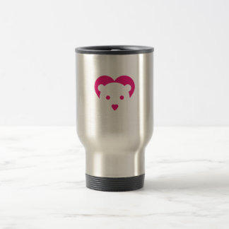 FLOPPYBEAR heart face travel mug