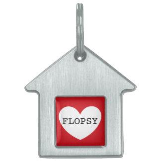 ❤️   FLOPSY pet tag by DAL