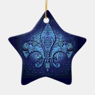 Flor-De-Lis,crest,flower- Ceramic Ornament
