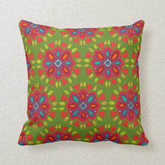 FLOR XL green Throw Pillow
