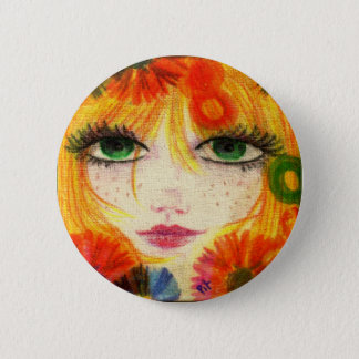 Flora 2 Inch Round Button