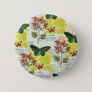 Flora and Fauna 2 Inch Round Button