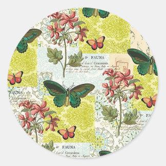 Flora and Fauna Classic Round Sticker