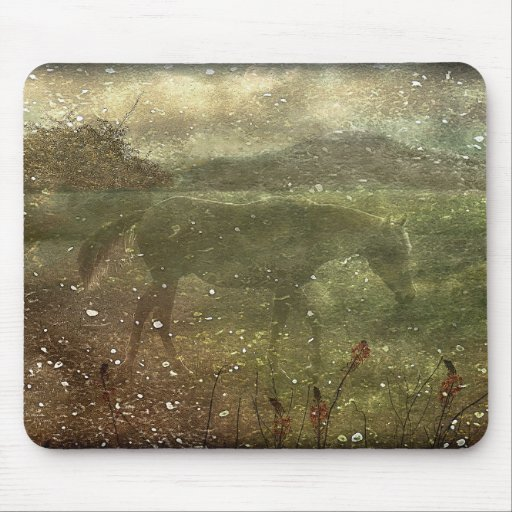 Flora and Fauna Dreamy Collage Mouse Pads