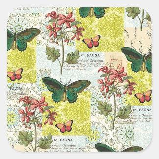 Flora and Fauna Square Sticker