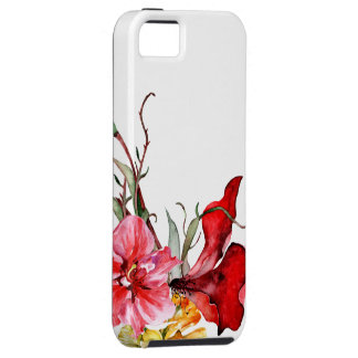 Flora Botanica Bold Watercolor Flowers iPhone 5 Cover