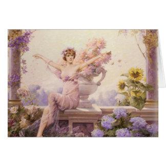 Flora by Louise Abbema Card