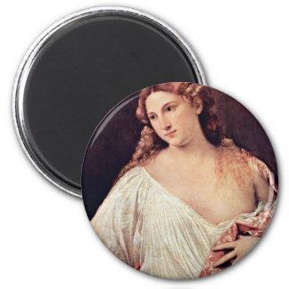 Flora,  By Tizian (Best Quality) Magnet