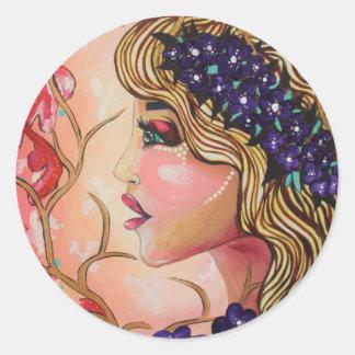 Flora Classic Round Sticker
