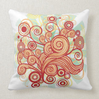 Flora Design Throw Pillow