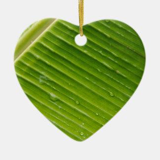 Flora Dominica 1 Ceramic Heart Ornament