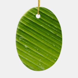 Flora Dominica 1 Ceramic Oval Ornament