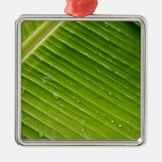 Flora Dominica 1 Silver-Colored Square Ornament