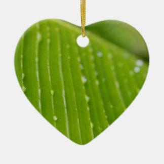 Flora Dominica 2 Ceramic Heart Ornament