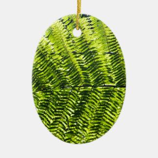 Flora Dominica 5 Ceramic Oval Ornament