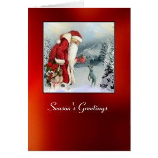 Flora & Father Christmas Card